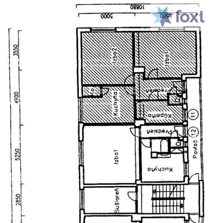 Prenajaté: Na prenájom exkluzívne 2 izb. byt, Staré mesto, Šancová ulica, Bratislava, 75m2, kompletne zariadený-37