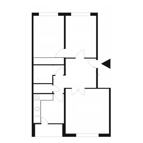 Predané: Na predaj príjemný 3 izbový byt so zmenenou dispozíciou s výhľadom do veľkého parku-11