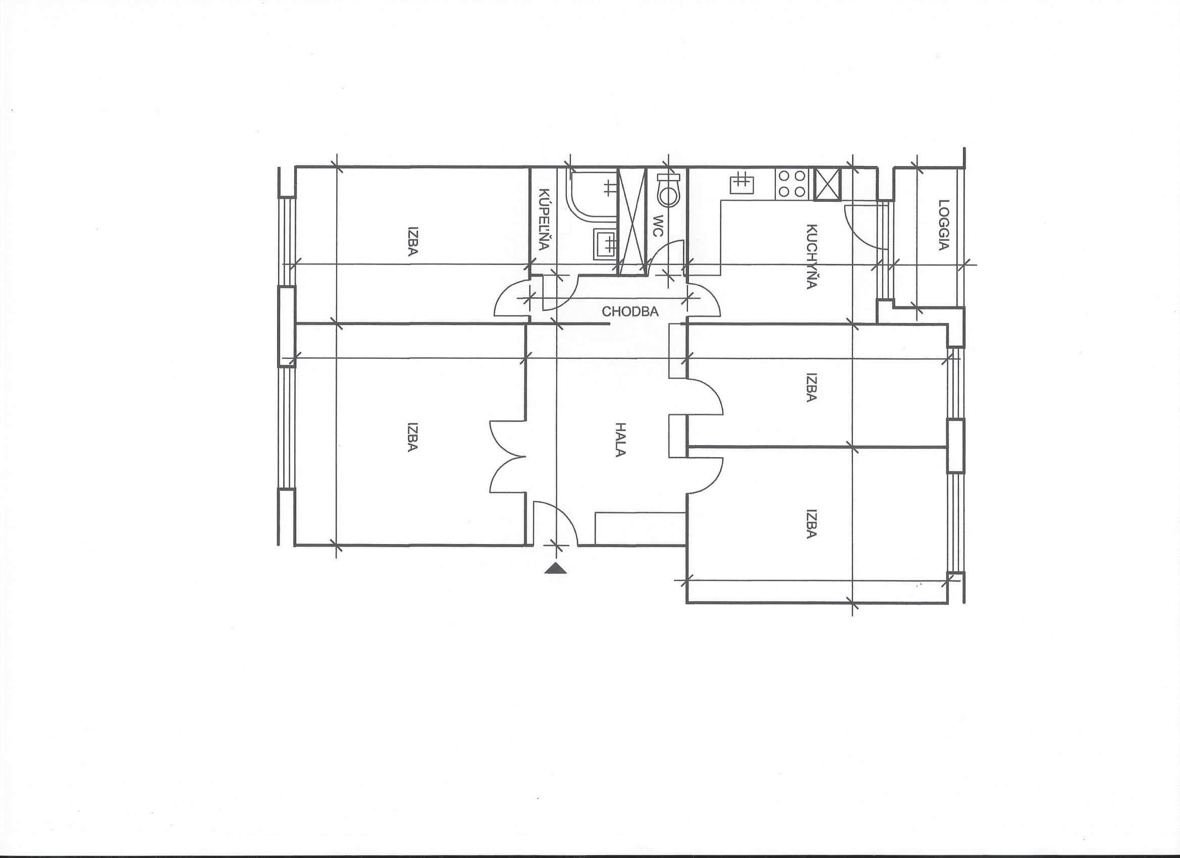 Predané: Na predaj 4 izbový byt v4-poschodovom bytovom dome svýťahom ulica Vyšehradská, Bratislava.-17