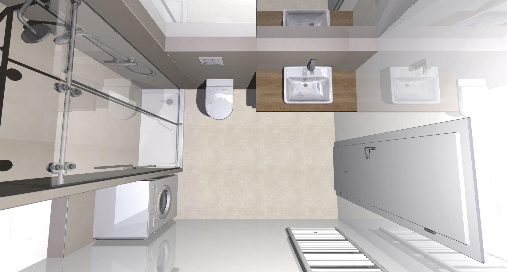 Predané: Novostavba posledný 1 izbový byt, širšie centrum v Bratislave, Beskydská ulica, 44,87m2, štandard, terasa 40m2-13