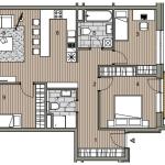 Predané: Novostavba 4 izbový byt, širšie centrum v Bratislave, Beskydská ulica, 90,37m2, balkón 4,5m2, štandard.-15