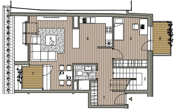 Predané: Novostavba Mezonet 4 izbový, širšie centrum v Bratislave, Beskydská ulica, 141m2, balkón a logia spolu 30,84m2, štandard.-7