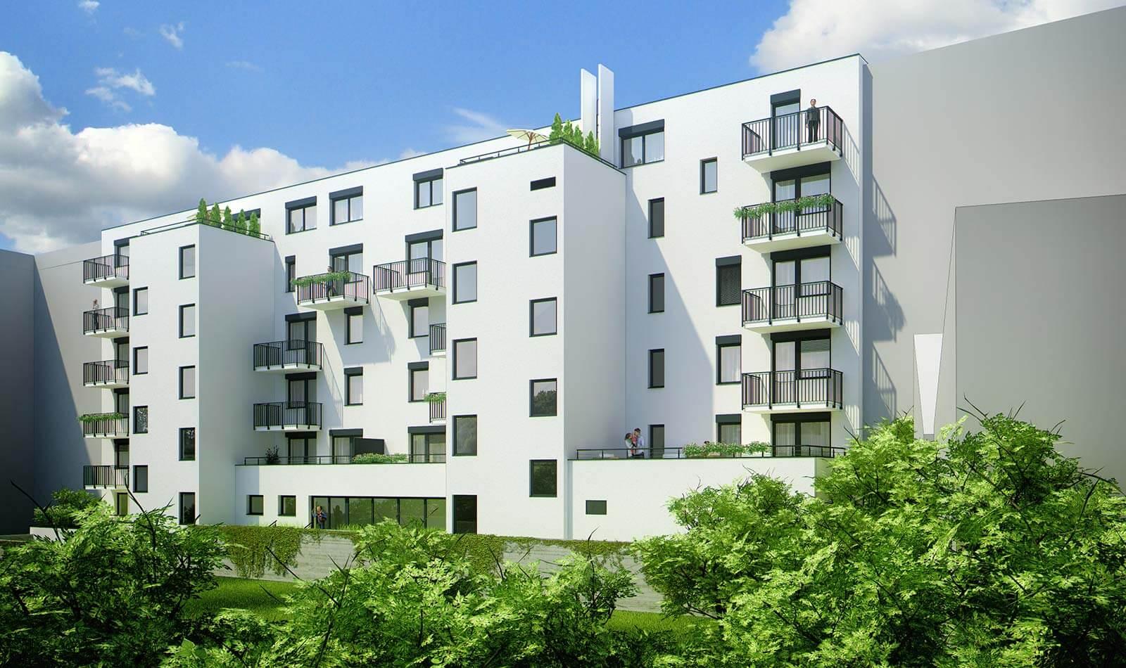Predané: Novostavba posledný 1 izbový byt, širšie centrum v Bratislave, Beskydská ulica, 44,87m2, štandard, terasa 40m2-9