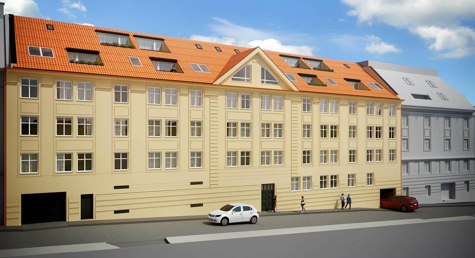 Predané: Novostavba posledný 1 izbový byt, širšie centrum v Bratislave, Beskydská ulica, 44,87m2, štandard, terasa 40m2-6