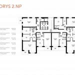 Predané: Novostavba 3 Izbový, M-House, Malacky centrum, 74,40m2, balkón 4,74m2-6
