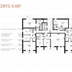 Predané: Novostavba 4 Izbový, M-House, Malacky centrum, 91,60m2, Loggia 15,29m2-6