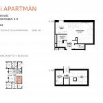Predané: NOVOSTAVBA Apartmán 2 IZBOVÝ, na dvoch podlažiach, M-HOUSE, MALACKY CENTRUM, 58,89M2-5