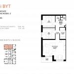 Predané: Novostavba 3 Izbový, M-House, Malacky centrum, 74,40m2, balkón 4,74m2-5