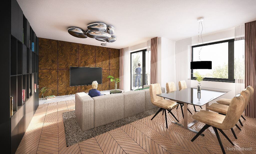 Predané: Novostavba 4 Izbový, M-House, Malacky centrum, 91,60m2, Loggia 15,29m2-9