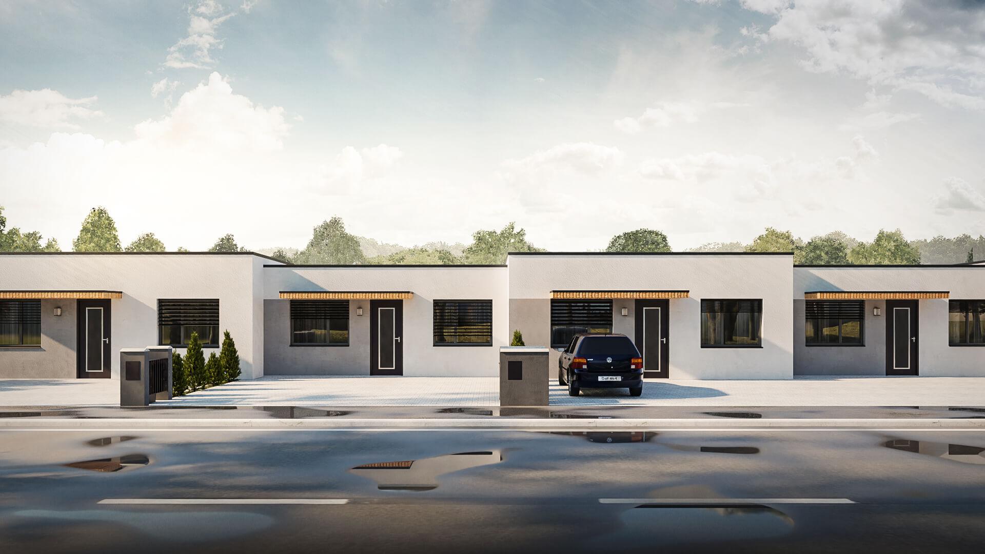 Predané: Novostavba bungalov radovka, 4 izbový, pozemok 300m2, užitkova 75m2-0
