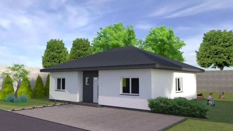 Predané: Exkluzívne 4 izbový Rodinný dom BUNGALOV 116m2, Miloslavov, pozemok 600m2-31