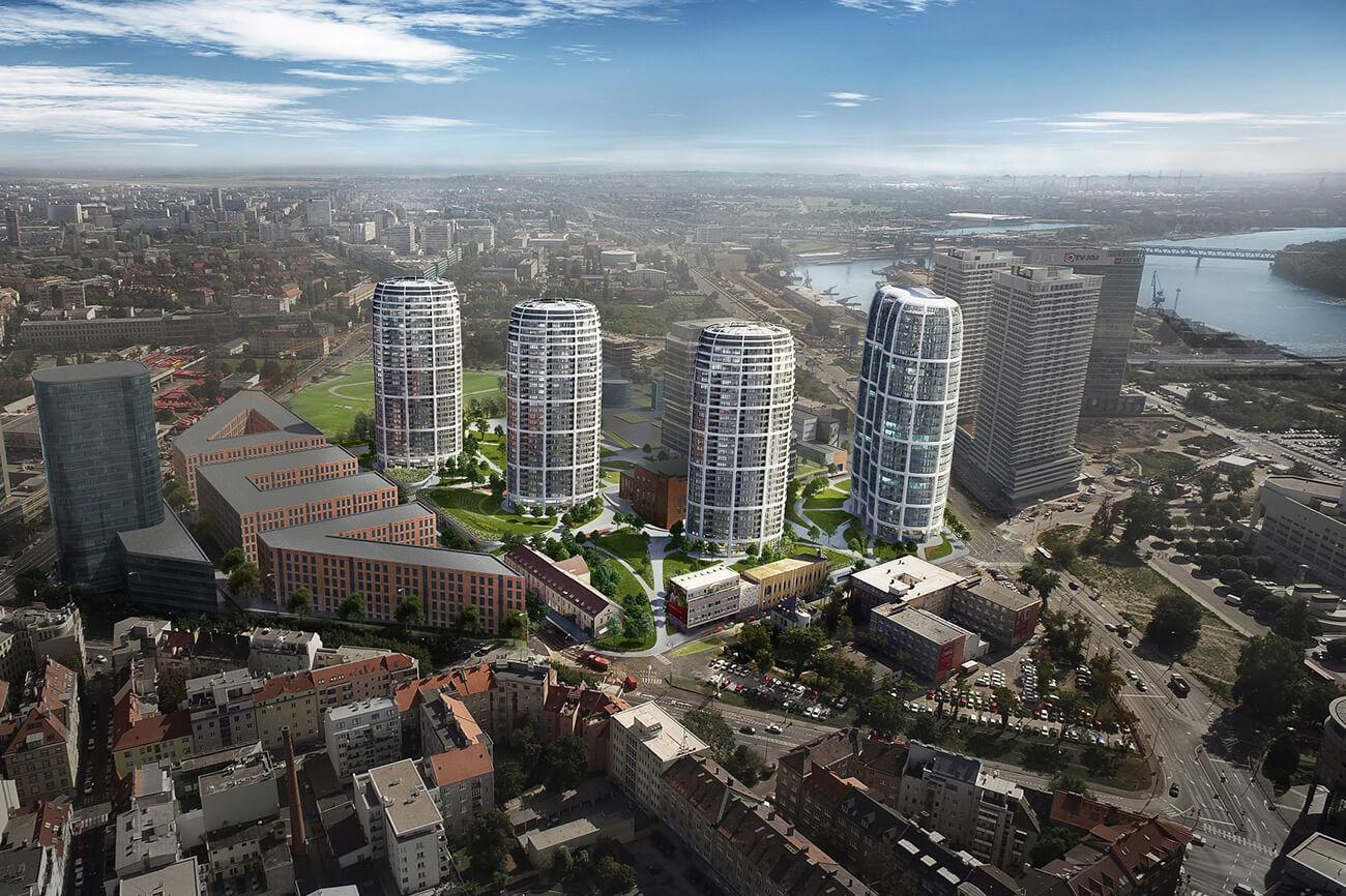 Predané: 2 izbový byt v Sky parku, III Veža,  17 poschodie, úžitková 50,51m2, Loggia 4,99m2,parkovacie miesto-25