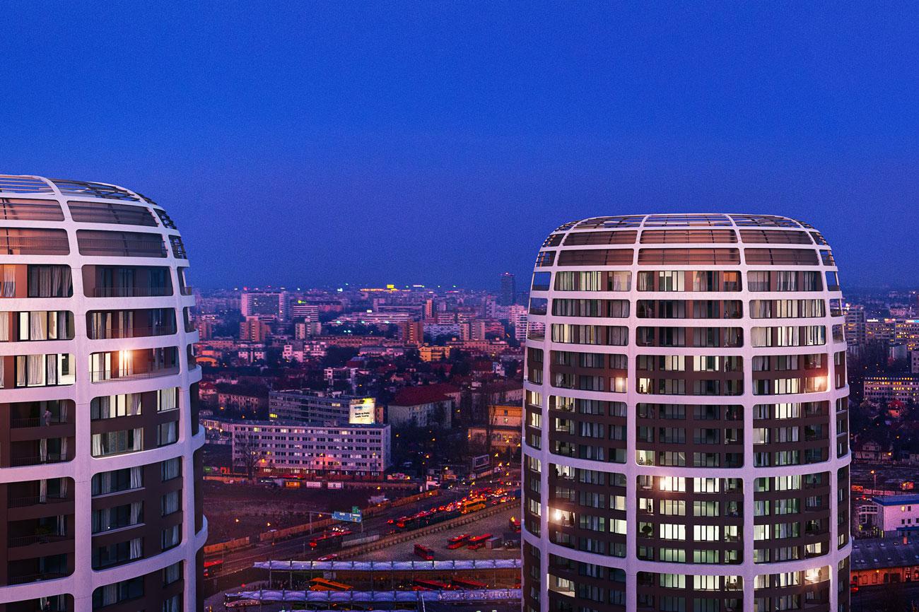 Predané: 2 izbový byt v Sky parku, III Veža,  17 poschodie, úžitková 50,51m2, Loggia 4,99m2,parkovacie miesto-24
