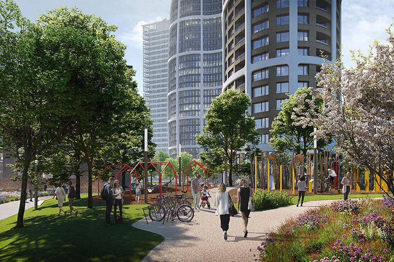 Predané: 2 izbový byt v Sky parku, III Veža,  17 poschodie, úžitková 50,51m2, Loggia 4,99m2,parkovacie miesto-20