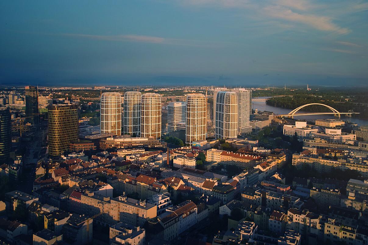 Predané: 2 izbový byt v Sky parku, III Veža,  17 poschodie, úžitková 50,51m2, Loggia 4,99m2,parkovacie miesto-18