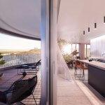Predané: 2 izbový byt v Sky parku, III Veža,  17 poschodie, úžitková 50,51m2, Loggia 4,99m2,parkovacie miesto-7