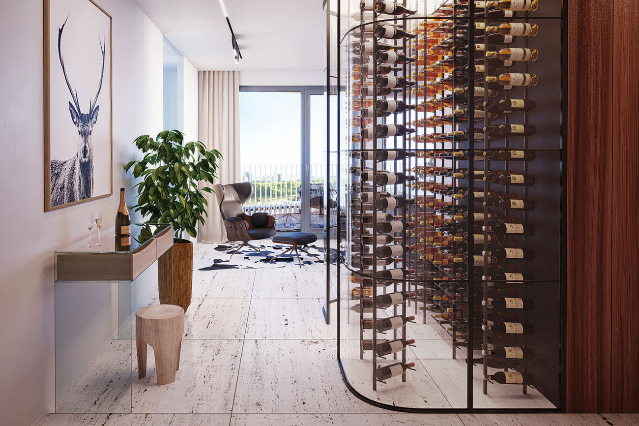 Predané: 2 izbový byt v Sky parku, III Veža,  17 poschodie, úžitková 50,51m2, Loggia 4,99m2,parkovacie miesto-8