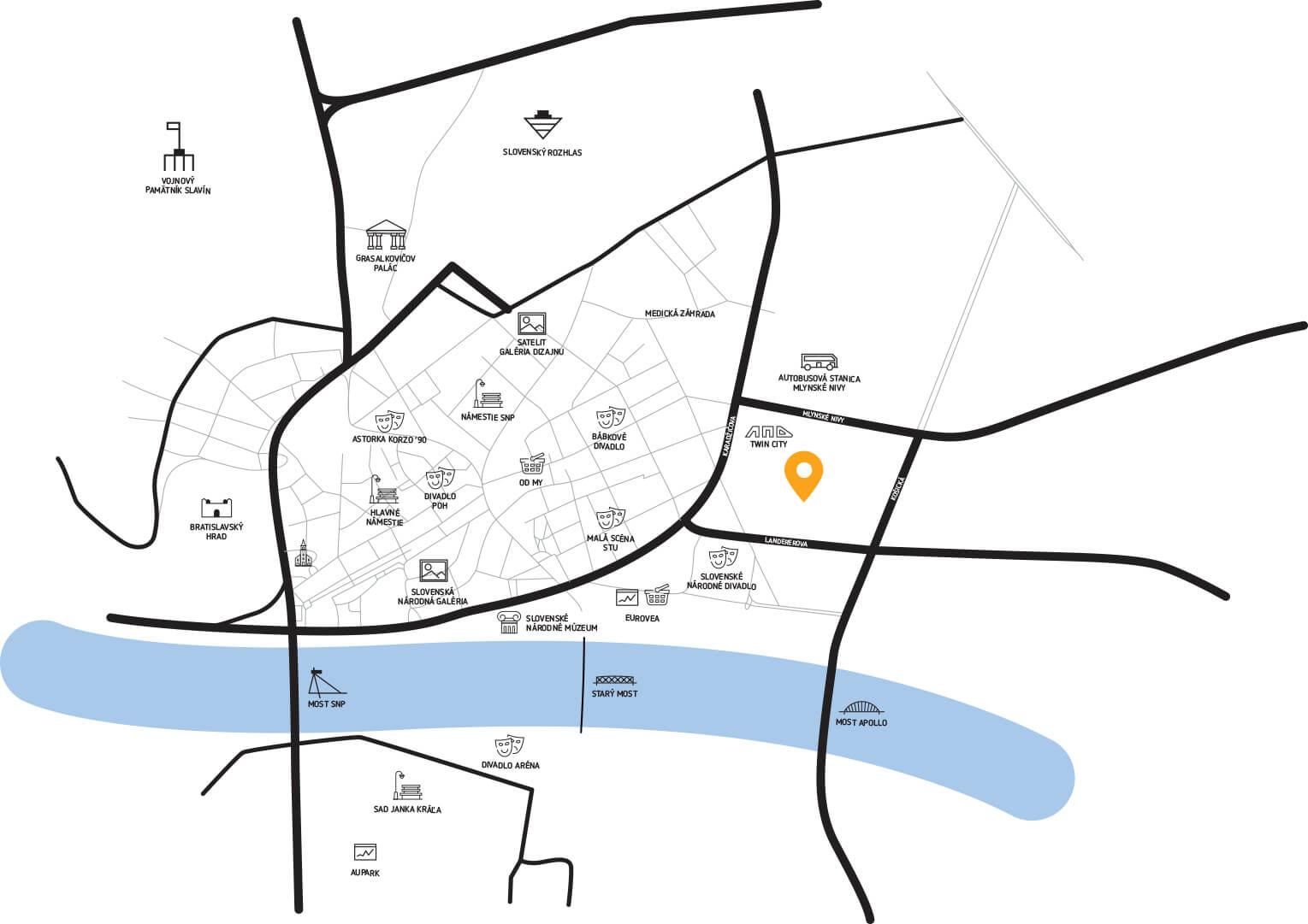 Predané: 2 izbový byt v Sky parku, III Veža,  17 poschodie, úžitková 50,51m2, Loggia 4,99m2,parkovacie miesto-2