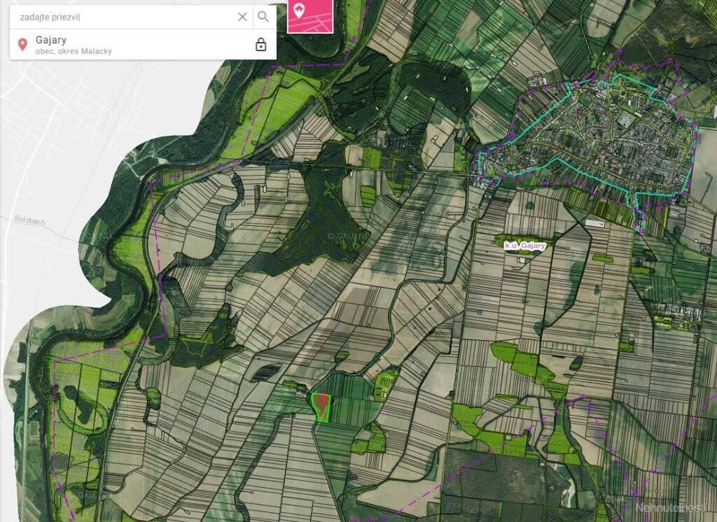 Predané: Na predaj exkluzívne ucelený pozemok, Orná pôda, 34 640m2, Gajary okres Malacky, cena 1,40€/m2-0