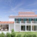 Veľký rozostavaný rodinný dom, 3NP spolu 355,13m2,pozemok 650m2,Novalja, na ostrove Pag, Chorvátsko-3